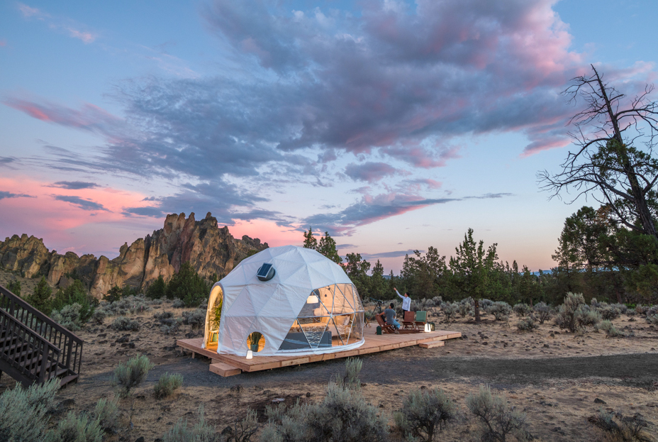 Geodesic dome eclipse getaway