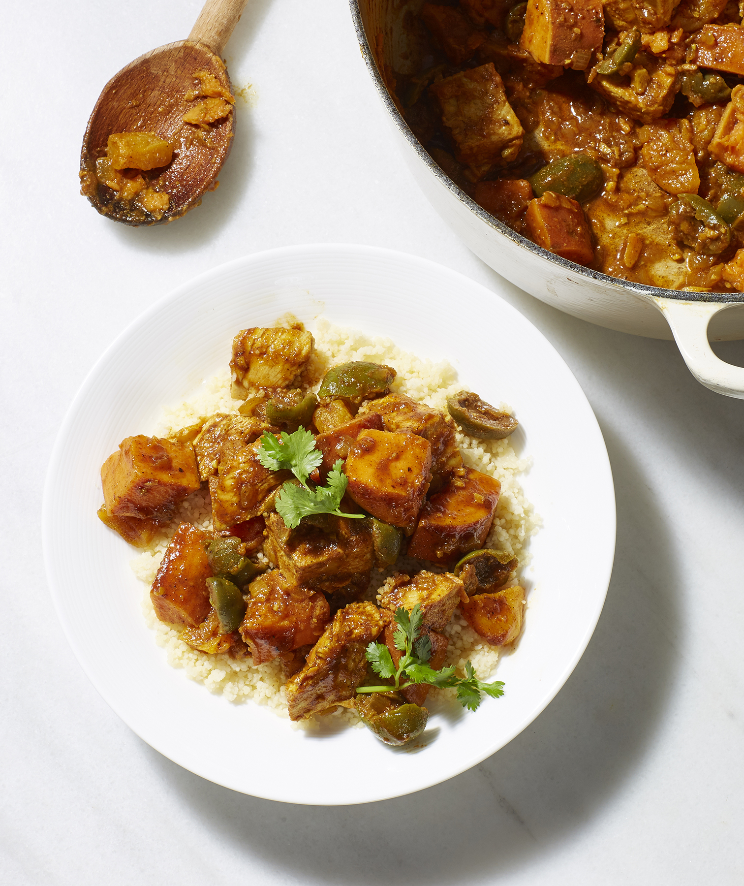 Turkey, Olive and Apricot Tagine
