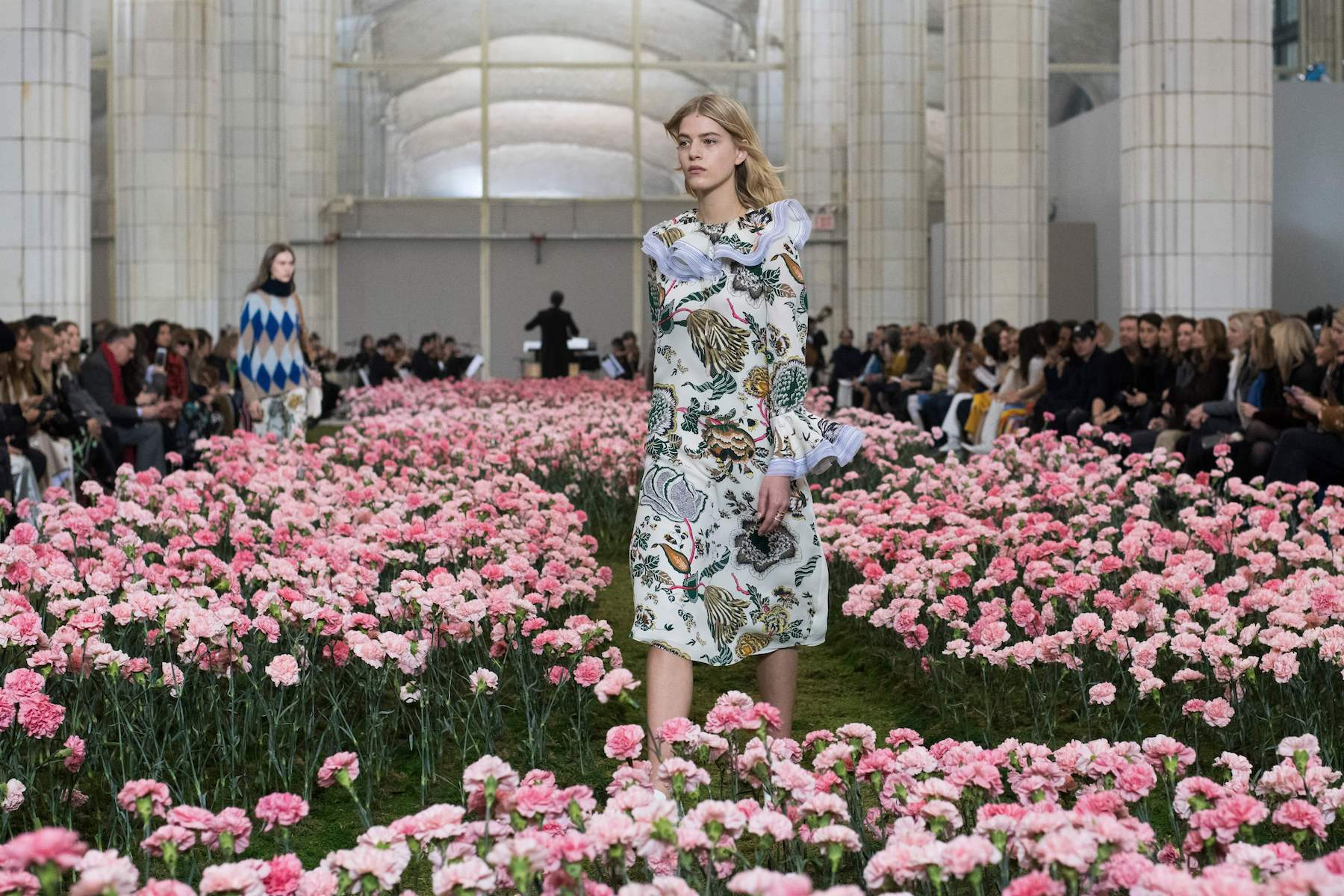 Tory Burch Carnations at runway show