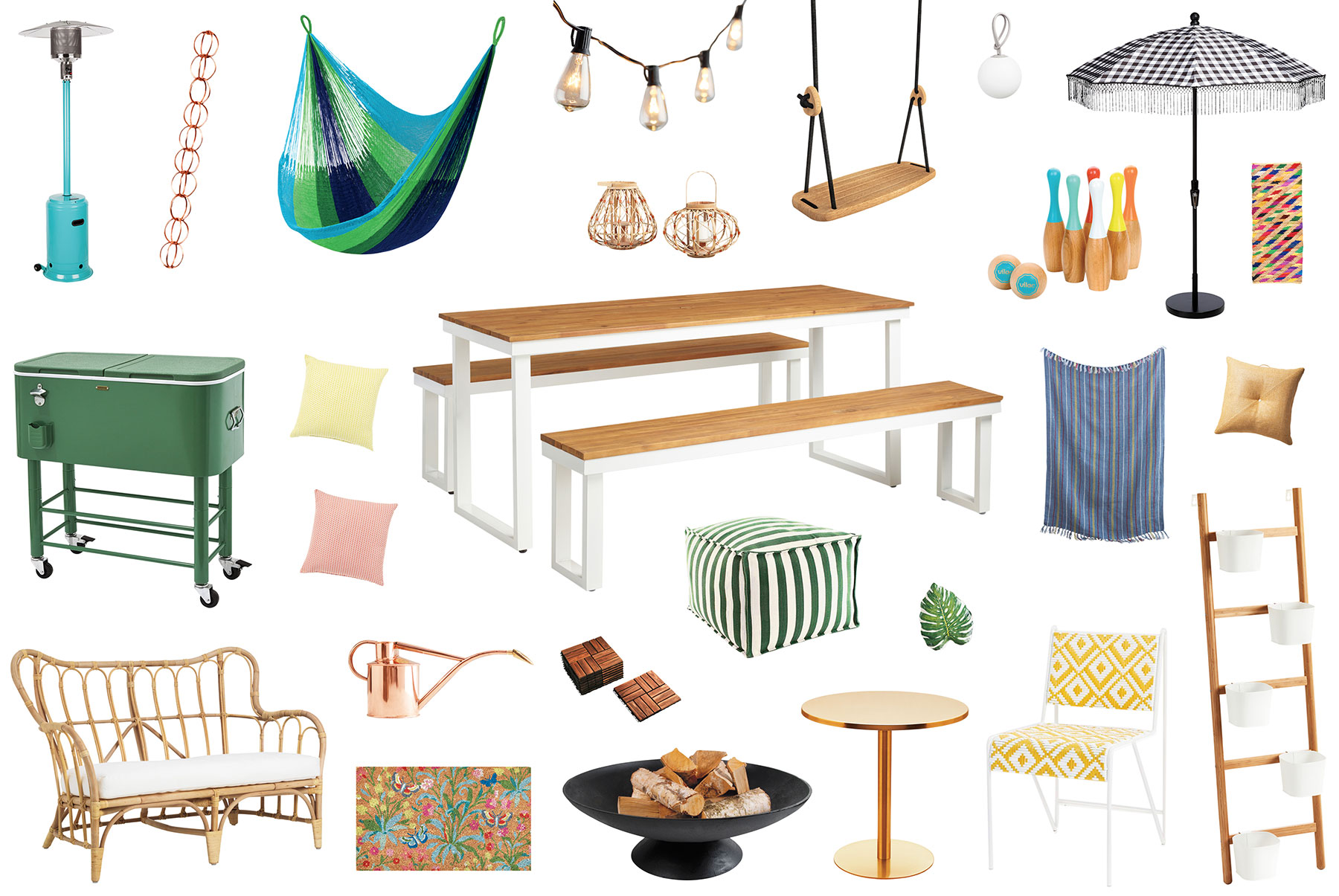 Outdoor space decorating products