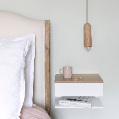 Storage Ideas for Small Spaces, Floating Bedside Shelf