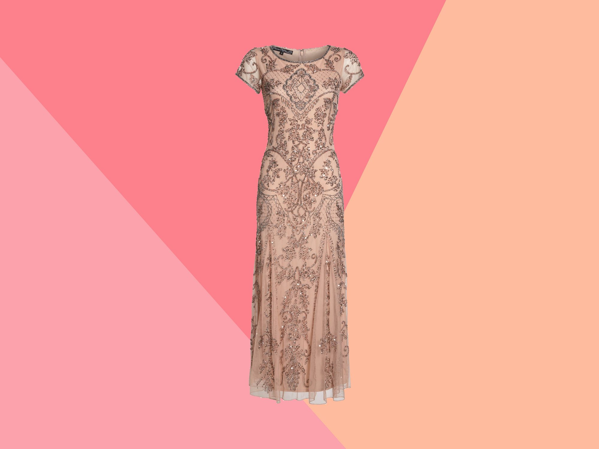 sequined mother of the bride dress