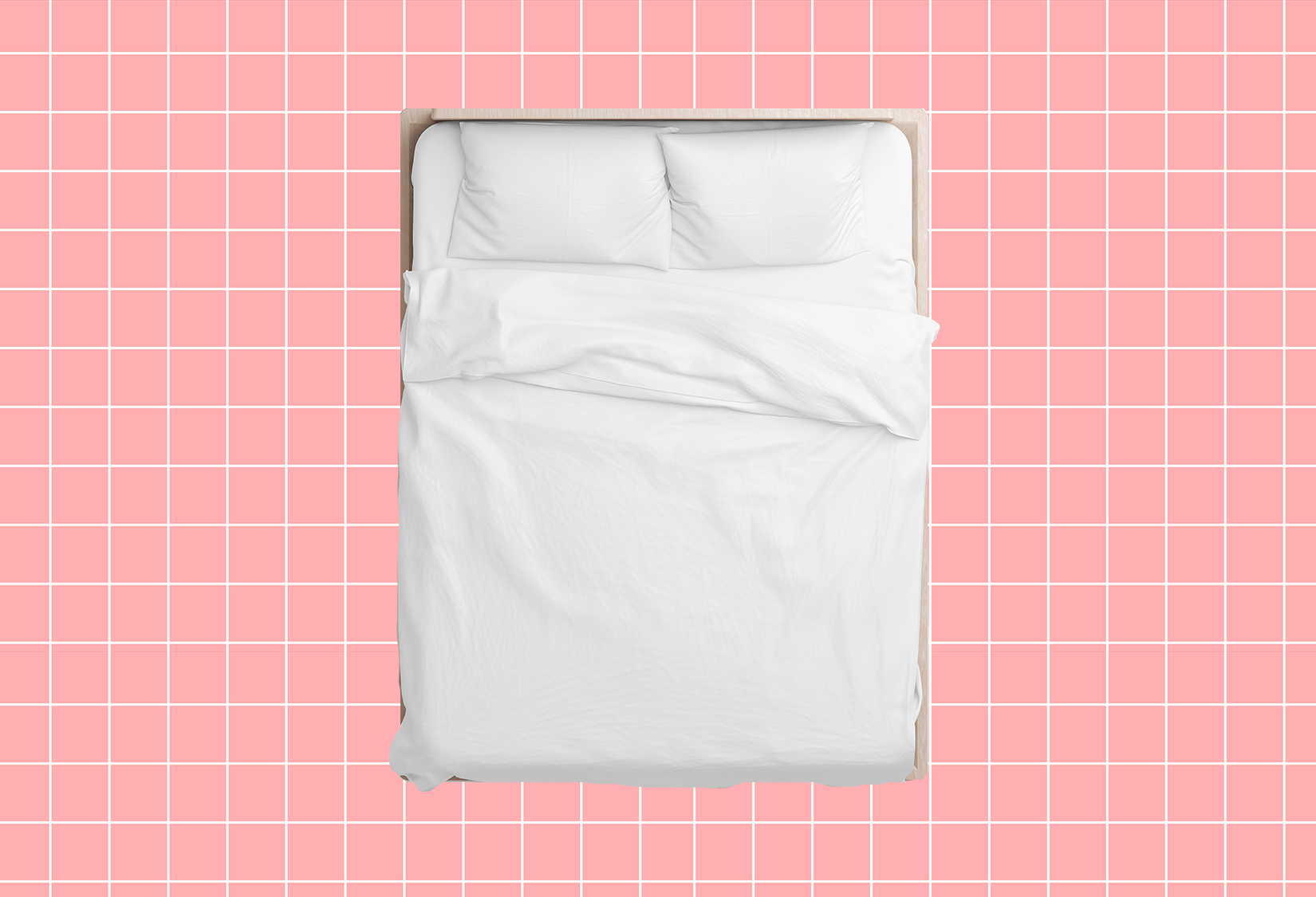 New Bedding Products, Bed with White Sheets