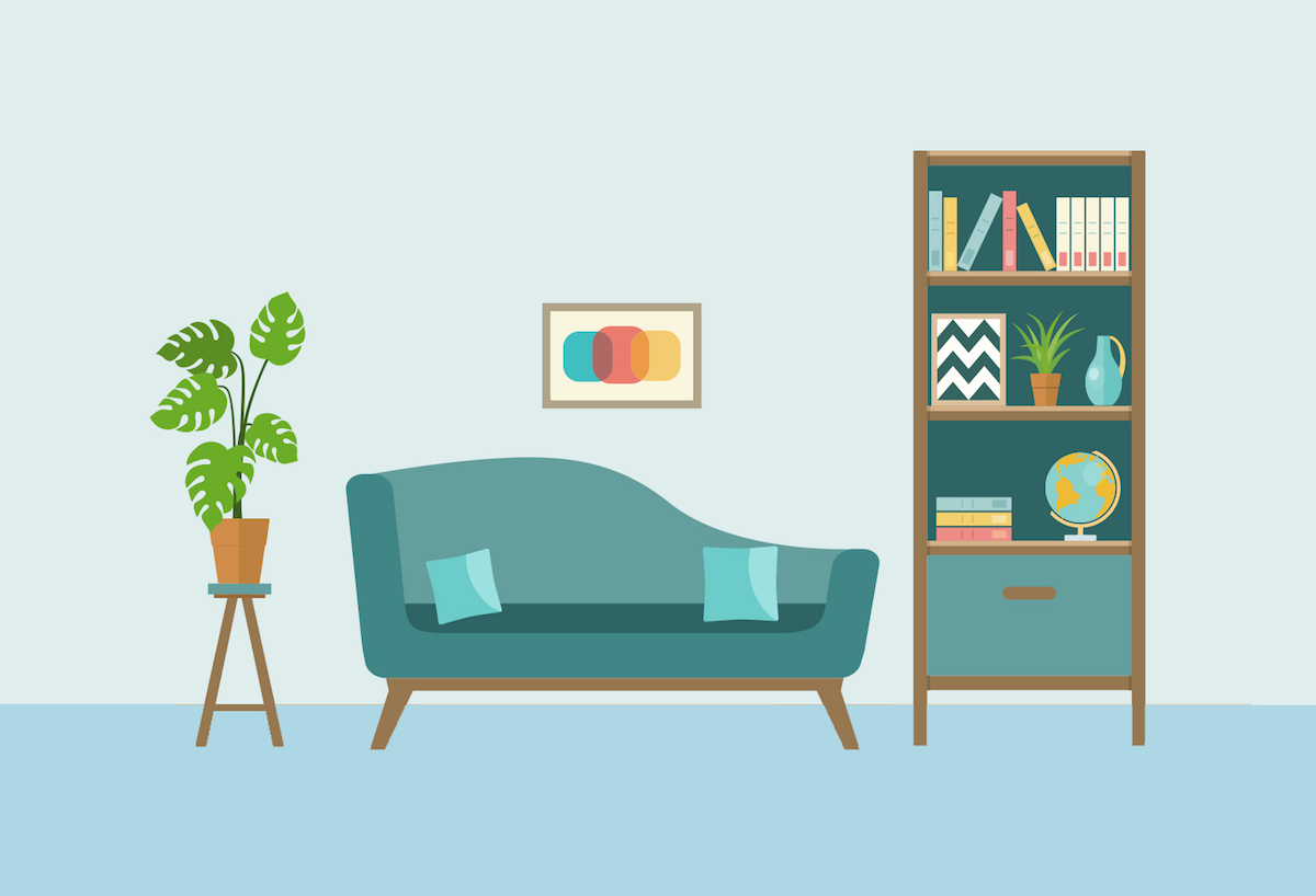 Little Hacks to Make Your Home Feel Cleaner, living room
