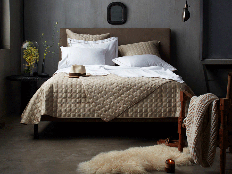 10 Grove Bedding The Irving Subtle Embroidery