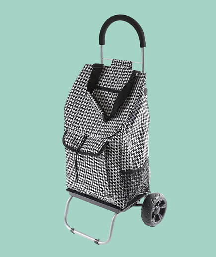 dbest Houndstooth Shopping Grocery Foldable Cart