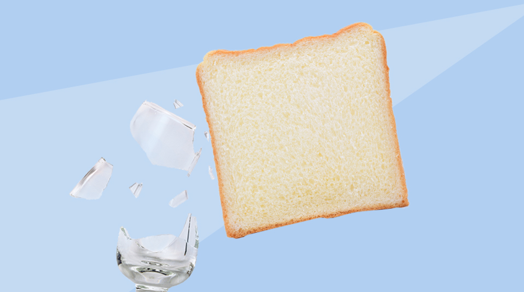 Real Simple Best Cleaning Hacks, bread and broken glass