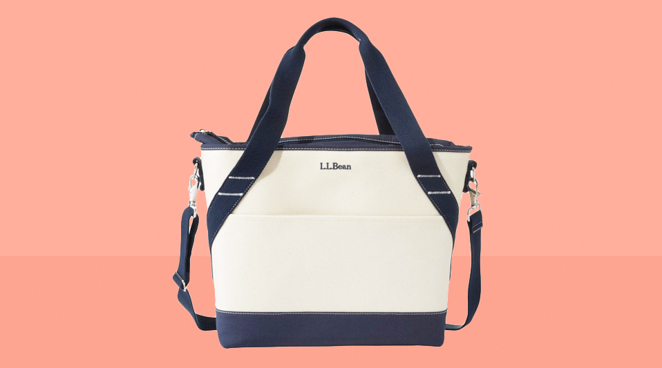 6 Clever Items 1/17/20 - L.L. Bean Insulated Tote coral background tout