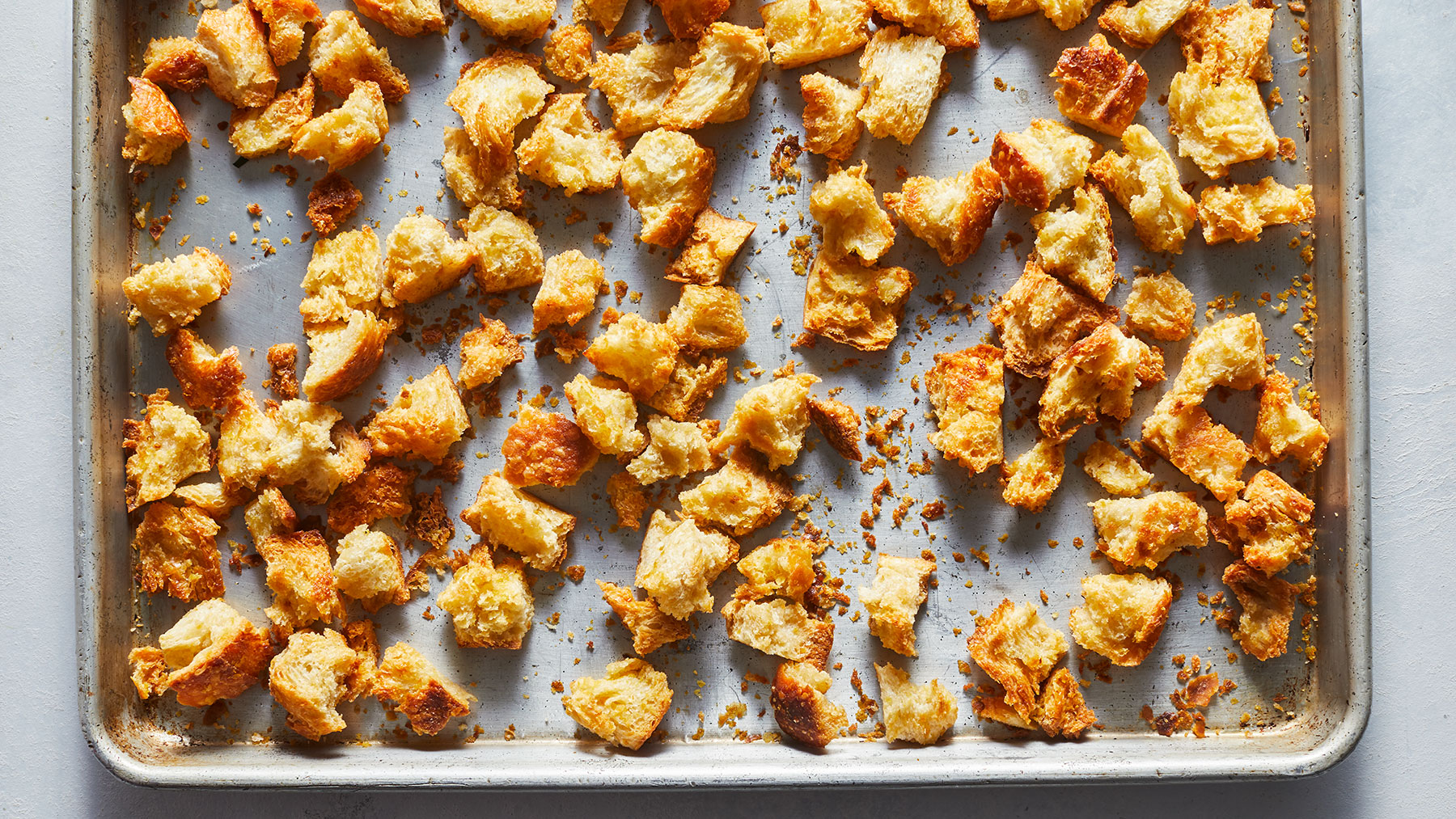 """Cheesy"" Croutons Recipe"