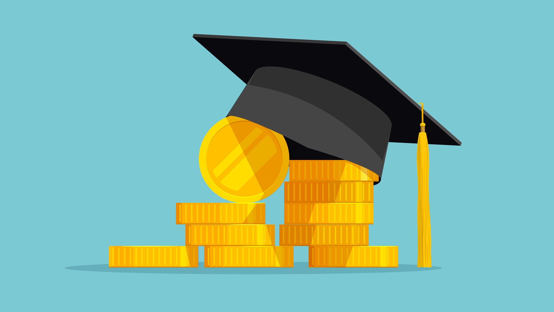 illustration of graduation cap and money: Everything You Need to Know About 529 College Savings Plans