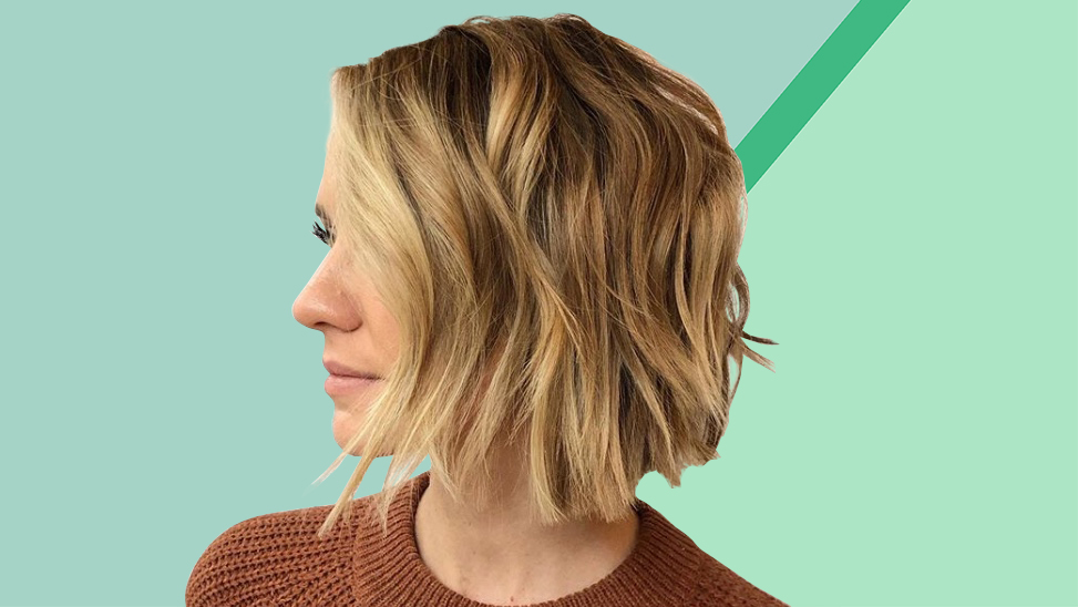 woman with textured bob haircut