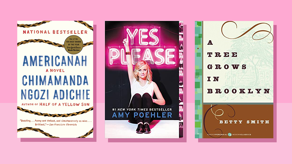 Mother-daughter books - books for moms and daughters to read together (covers: Yes Please, Americanah, A Tree Grows in Brooklyn)