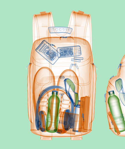 x-ray of carry-on-luggage