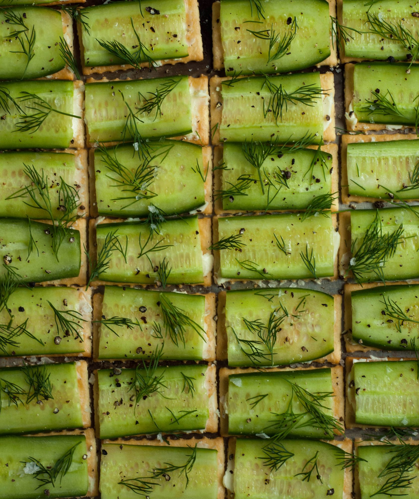 Open-Faced Cucumber Finger Sandwiches