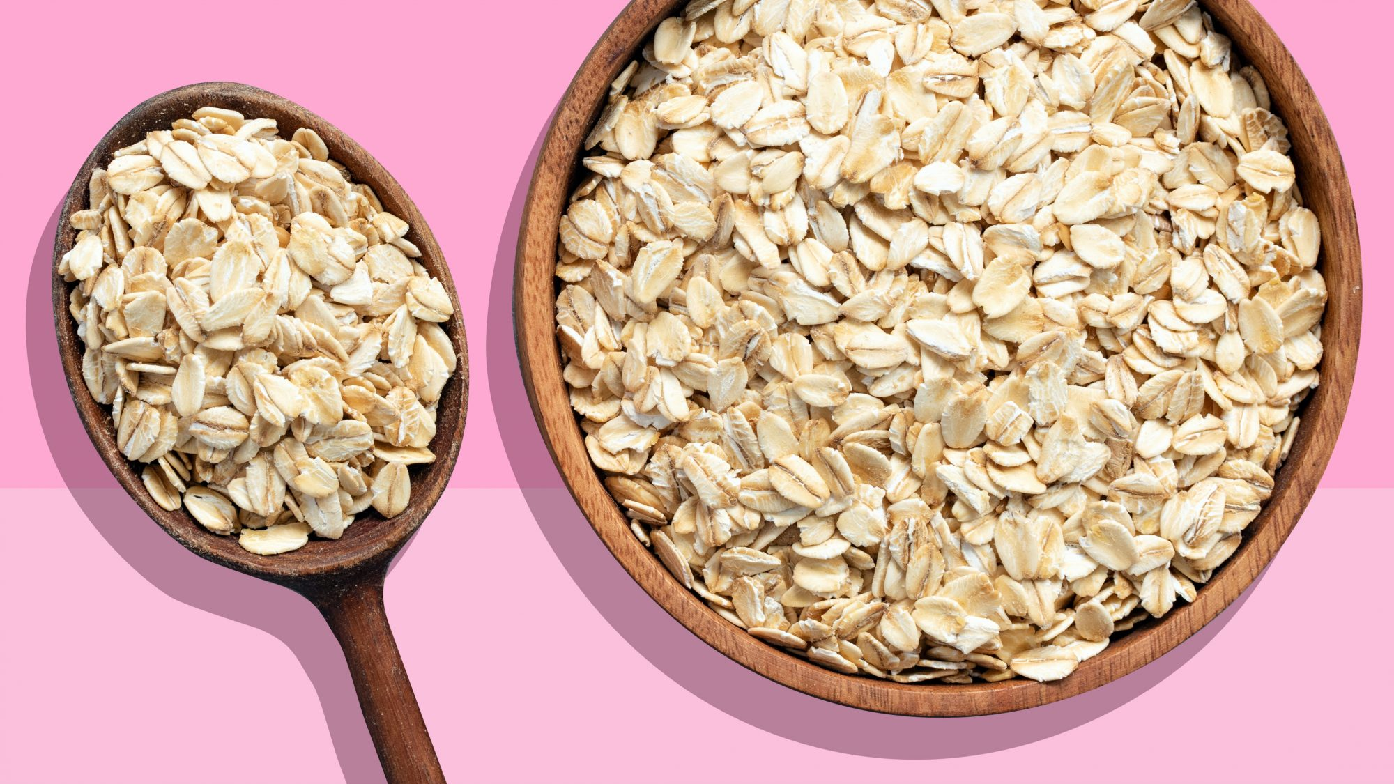 Oats on a pink background