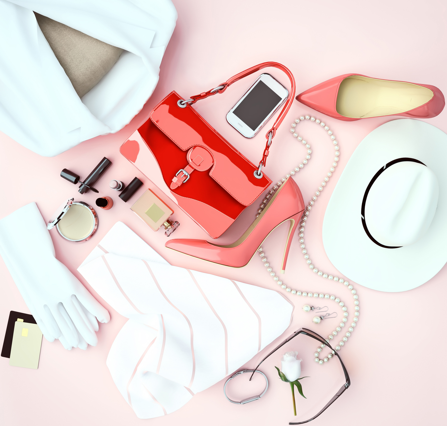 Fashion apps - phone with fashion, clothing accessories
