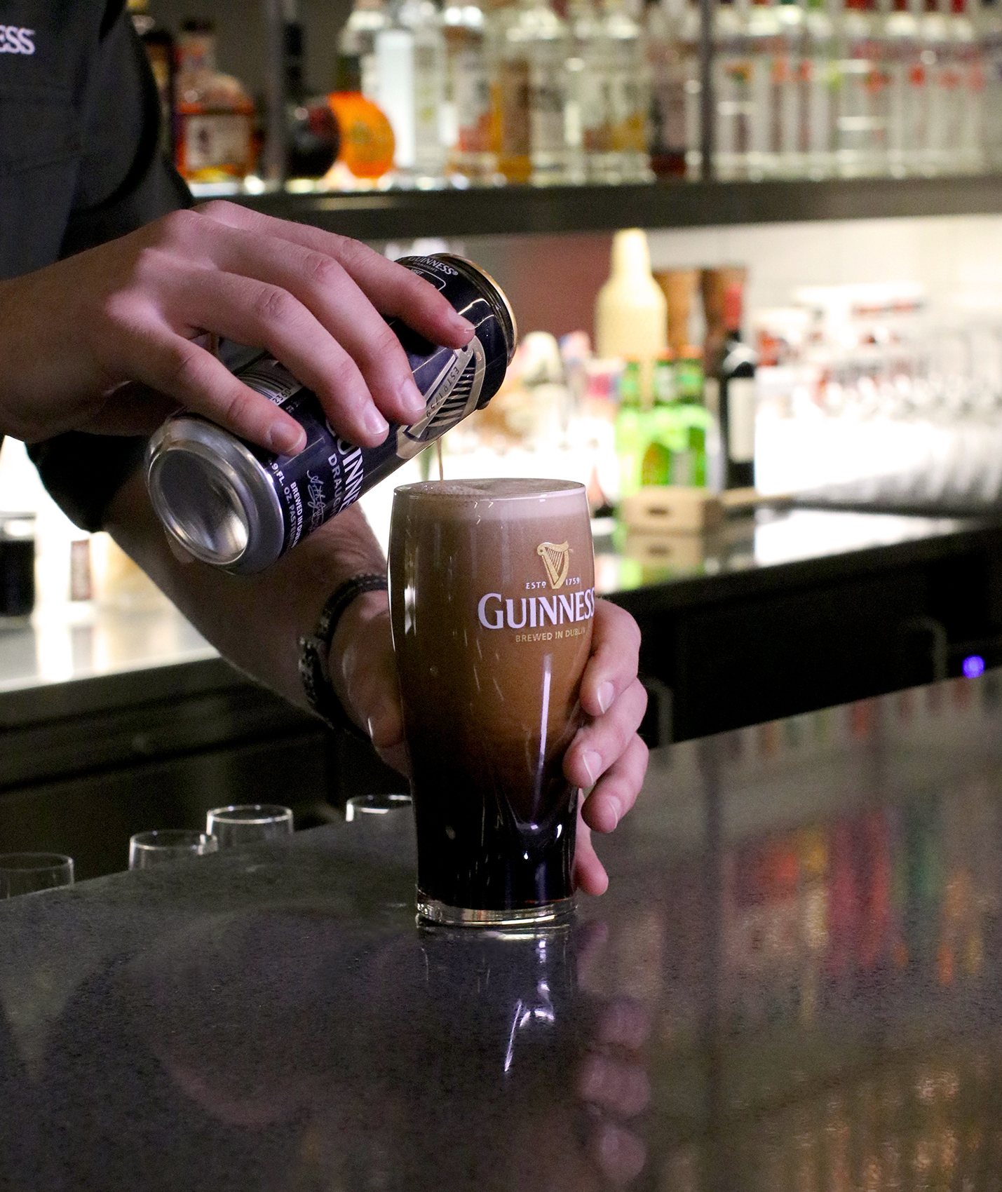 Guinness beer pour