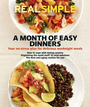 October 2011 cover image of 2 plates of food