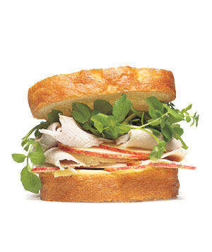 Turkey Sandwich With Watercress and Apple