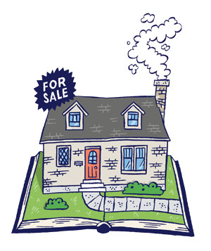 Illustration of House with Chimney