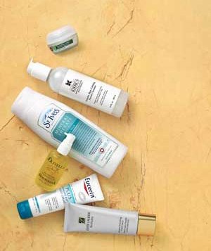 Products for somewhat dry skin