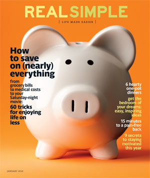 January 2010 Real Simple Cover