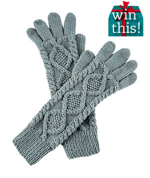 Extra Long Cable Knit Gloves by Fred Flare