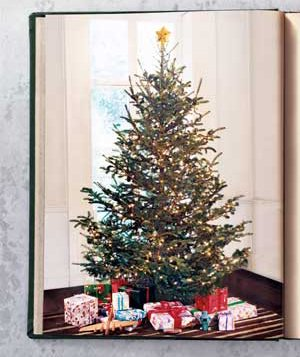 book with picture of christmas tree