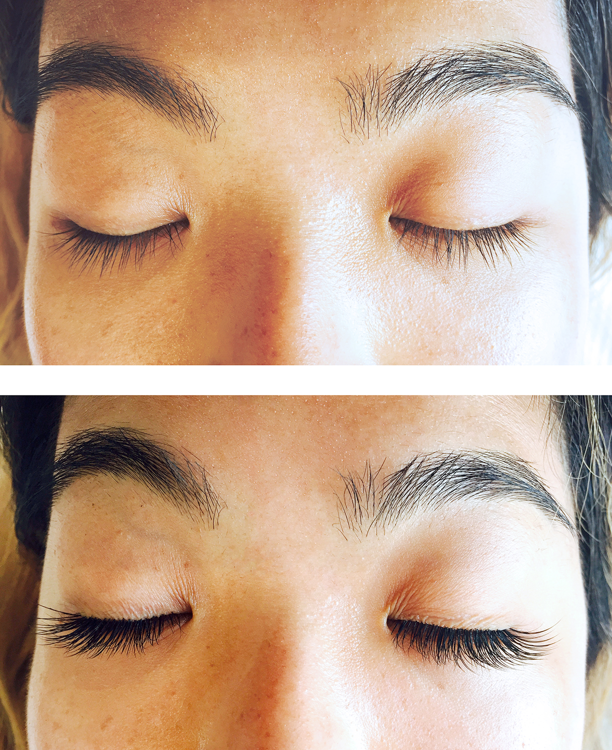 Jenny Jin before and after lash extensions