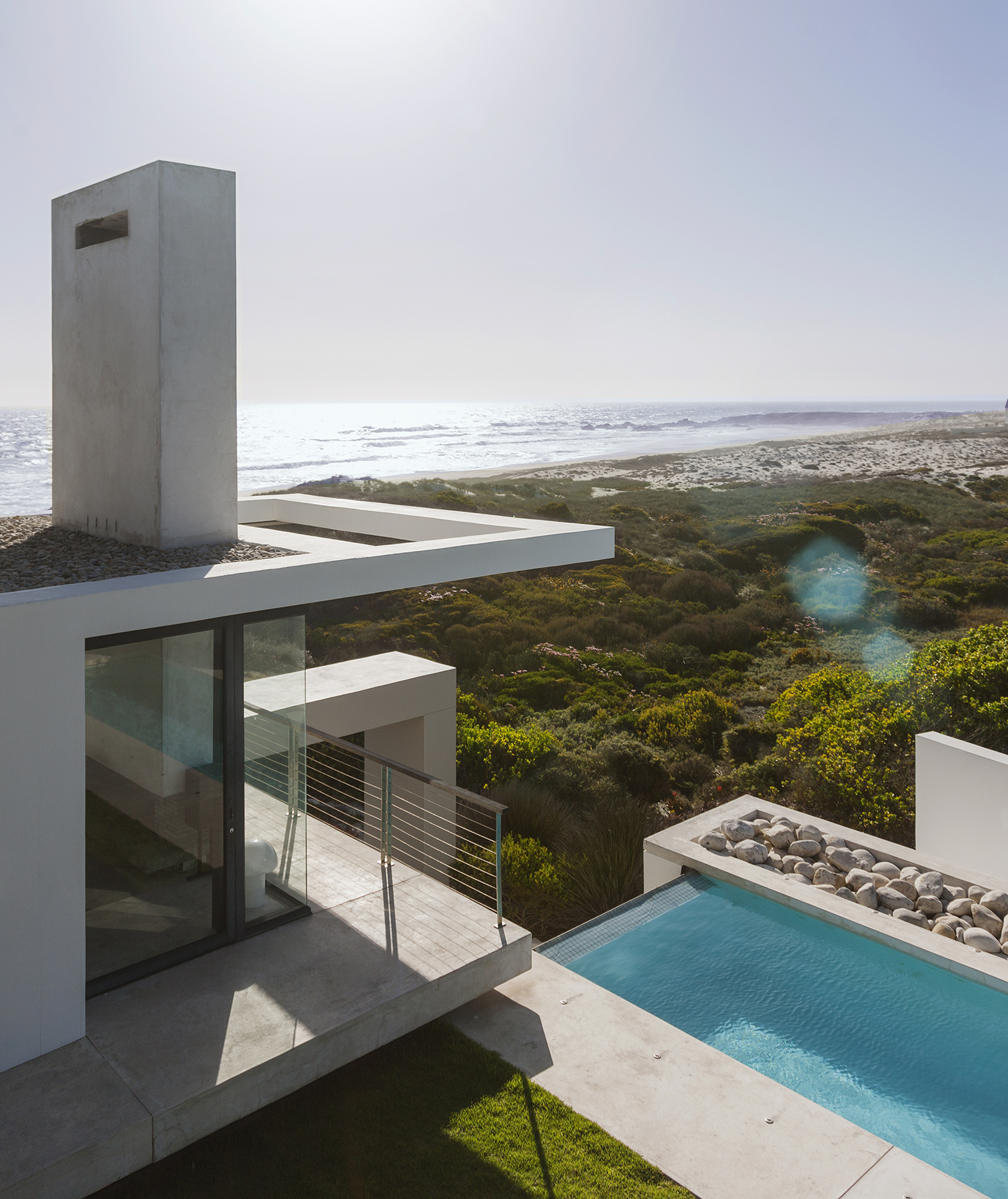 Modern house with ocean view
