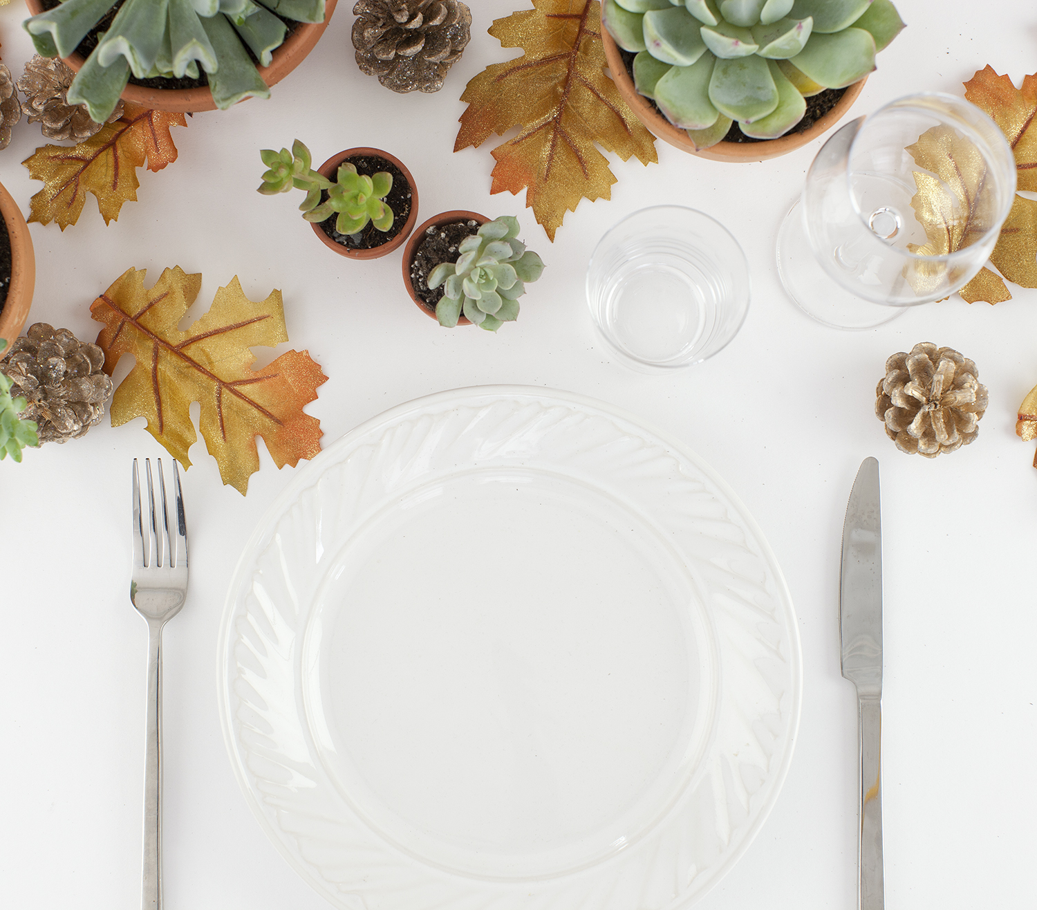 Natural fall table runner