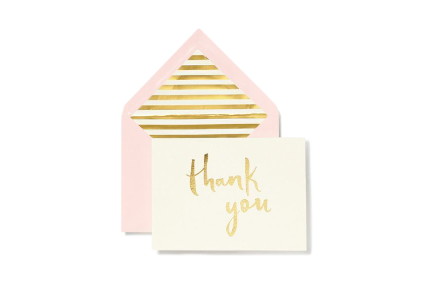 Paint Brush Thank You Card Set