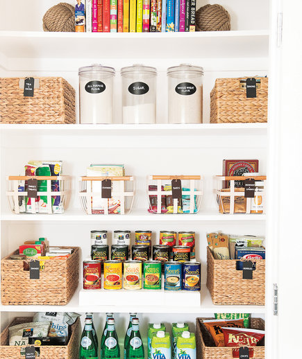 Well-organized pantry
