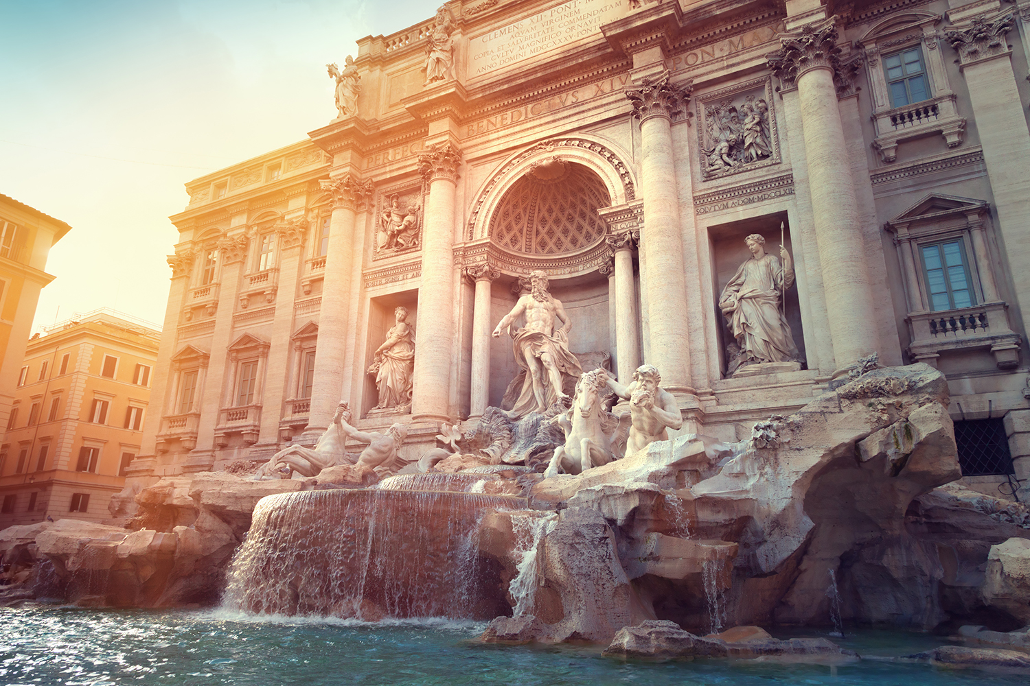 Trevi Fountain and Coins
