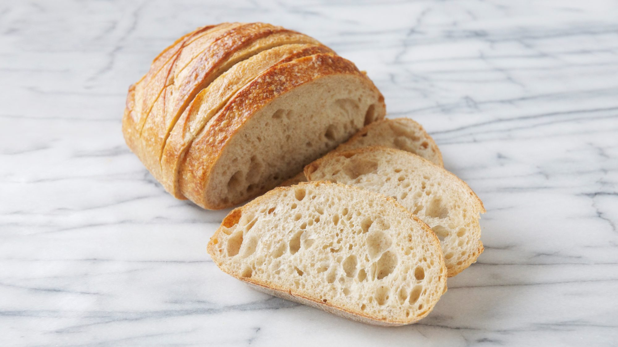 sourdough bread made with two-ingredient sourdough starter