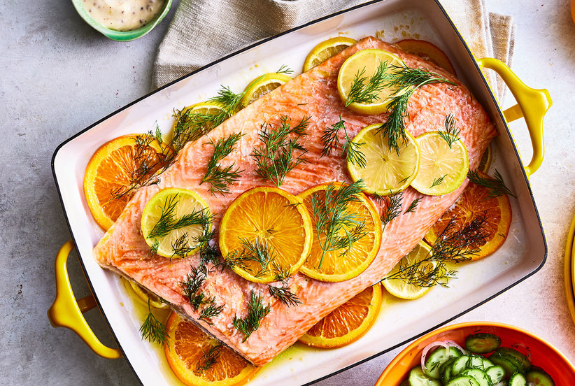 Slow-Roasted Citrus Salmon
