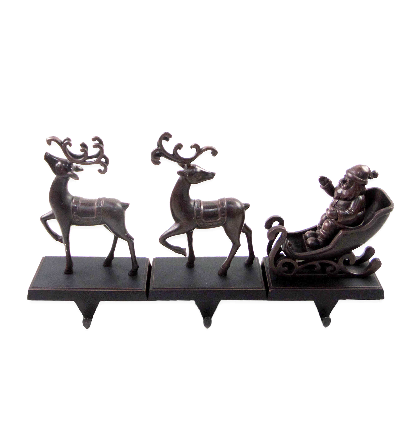 Reindeer with Sleigh Stocking Hangers