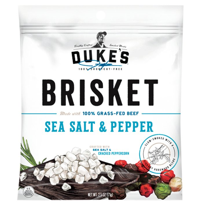 Duke's Sea Salt & Pepper Beef Brisket Strips