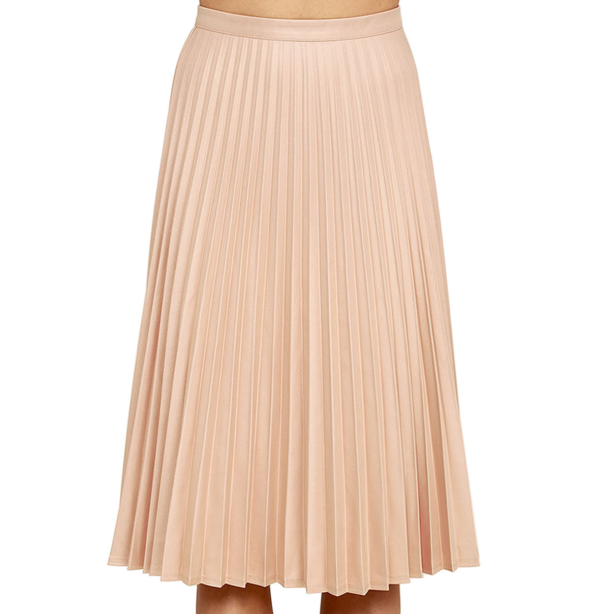 Lulus Like a Phenomenon Pleated Midi Skirt