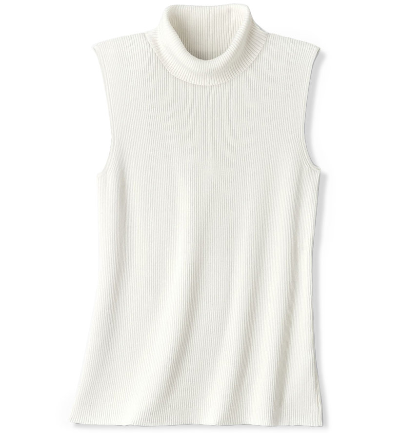 Coldwater Creek Sleeveless Classic Turtleneck
