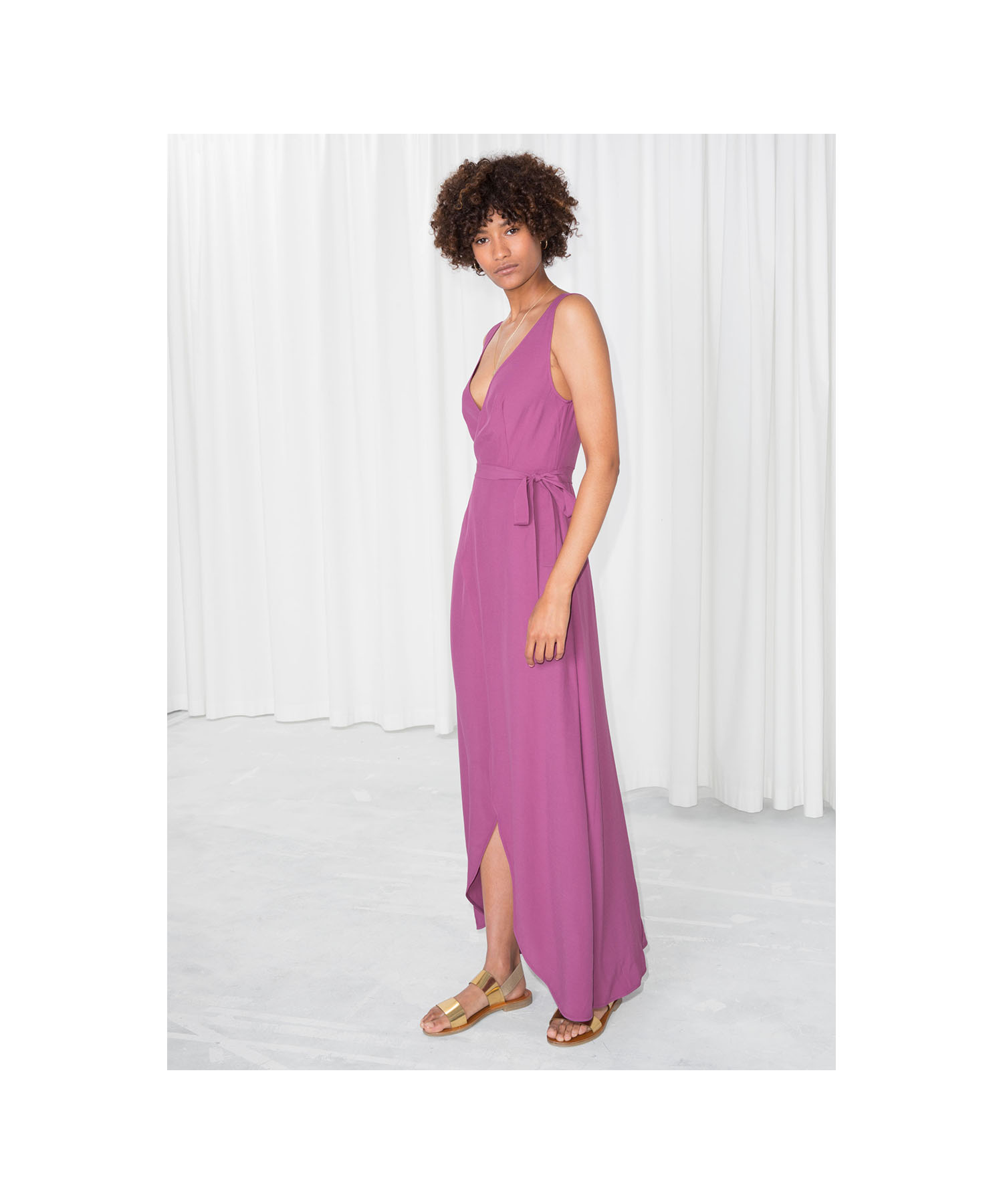 And Other Stories Maxi Wrap Dress
