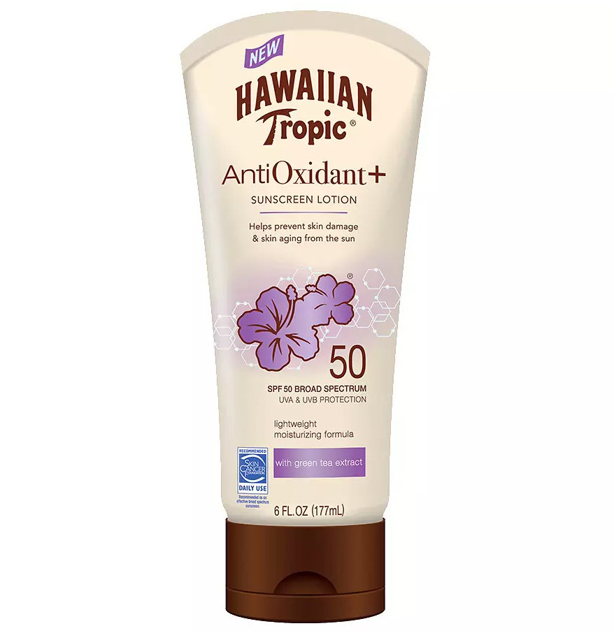 Hawaiian Tropic Antioxidant Plus Sunscreen Lotion SPF 50