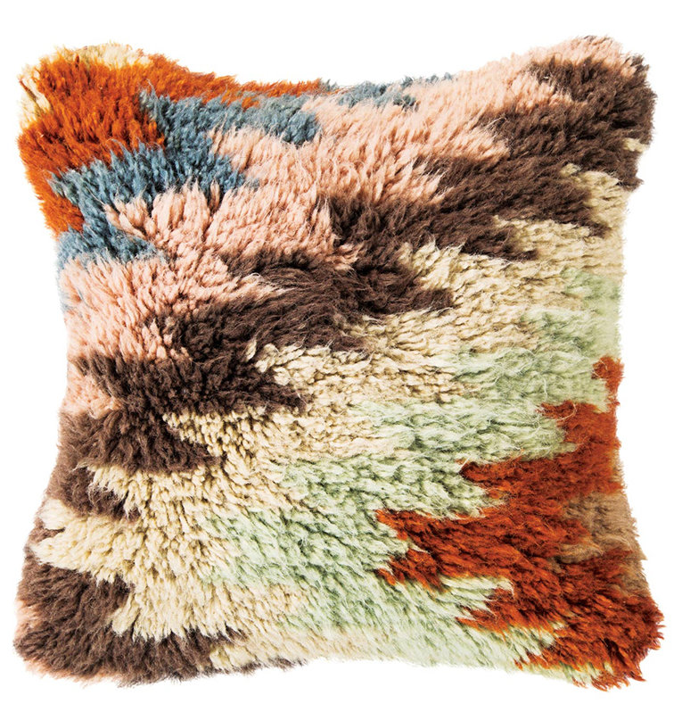 Aztec Wool Shag Pillow