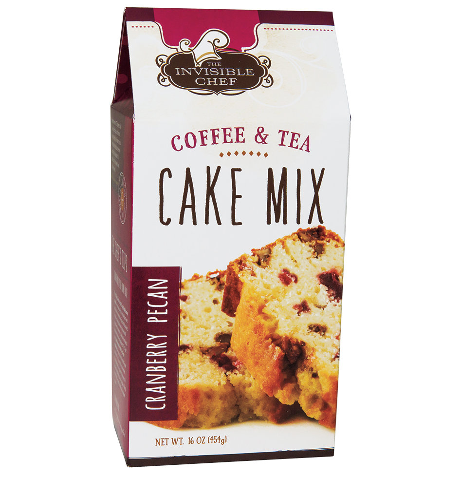 The Invisible Chef Cranberry Pecan Coffee & Tea Cake Baking Mix