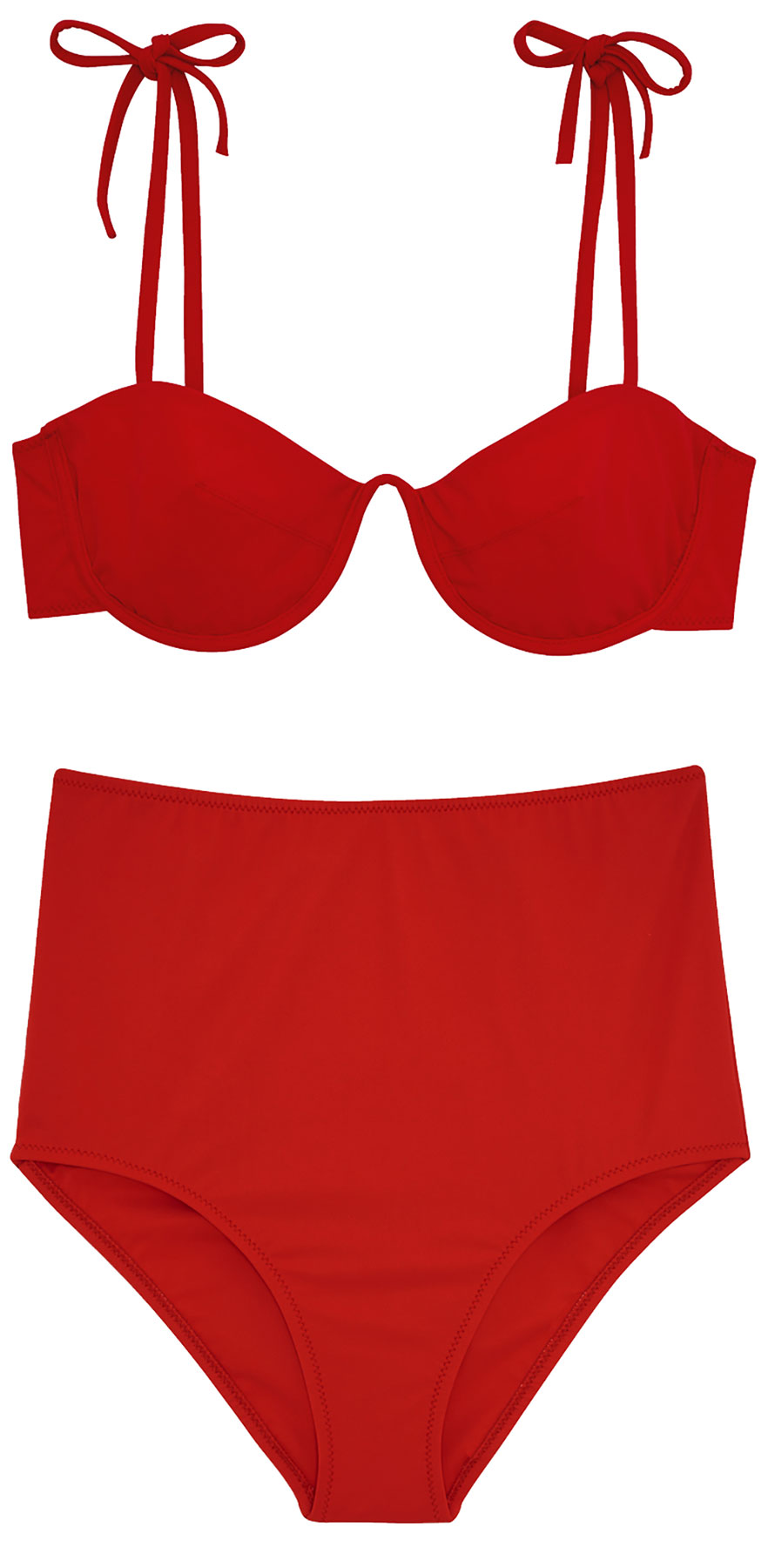 Araks Myriam red retro high-waisted bikini