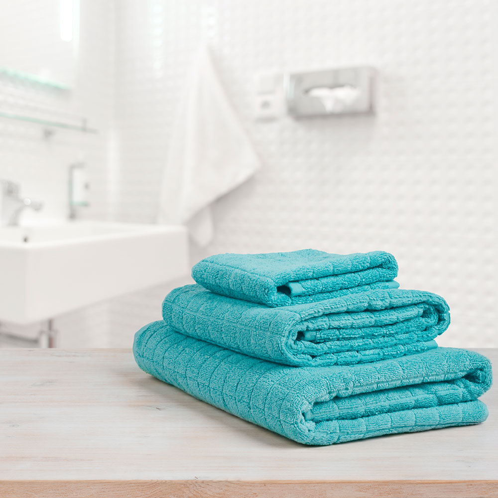 prep your space: bathroom image with towels