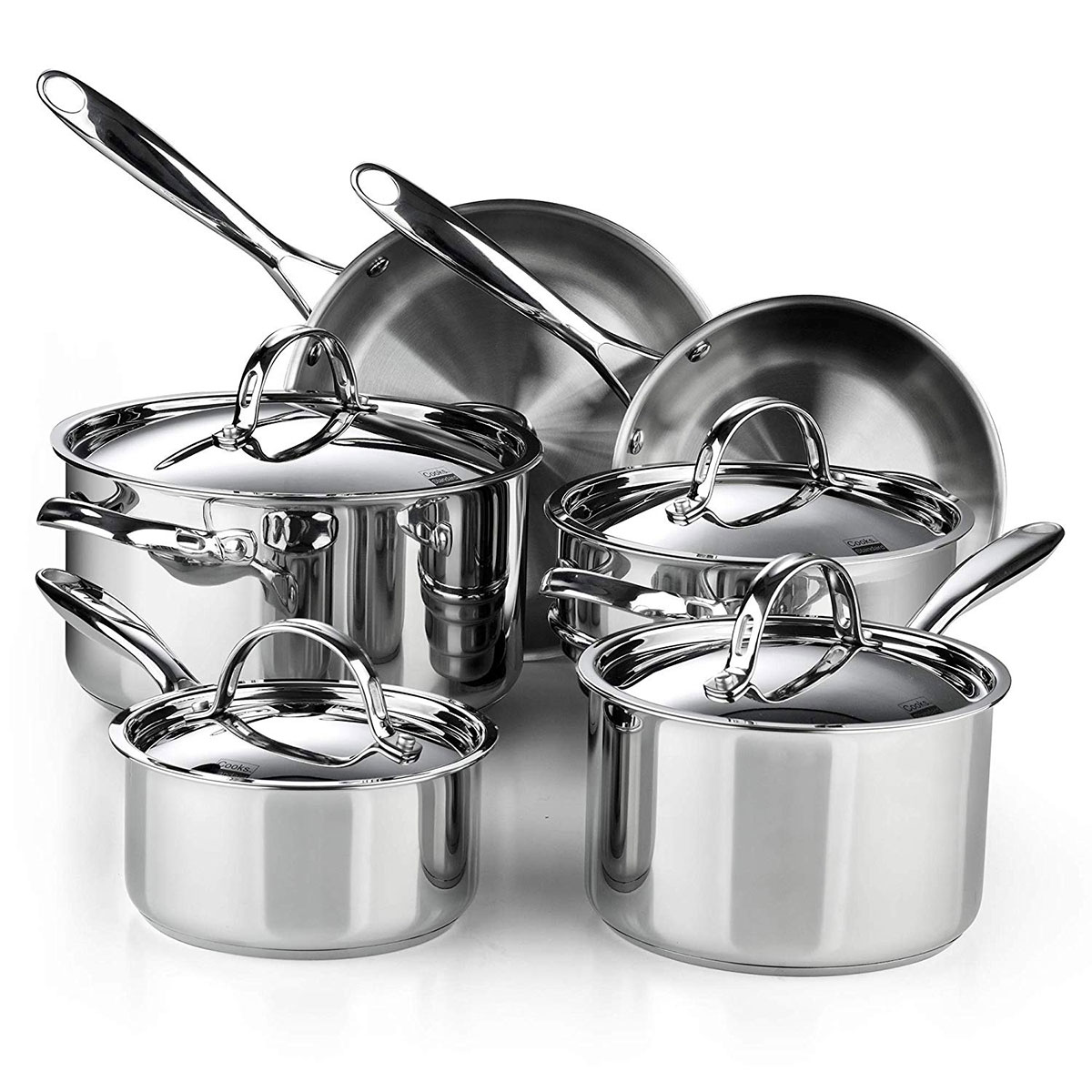 Gifts for Brother: Cooks Standard Classic 10-Piece Stainless Steel Cookware Set