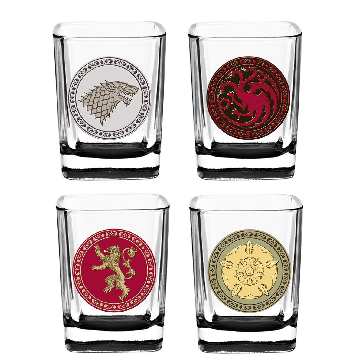 Best Gift for Brother: Game of Thrones House Sigil Shot Glass Set