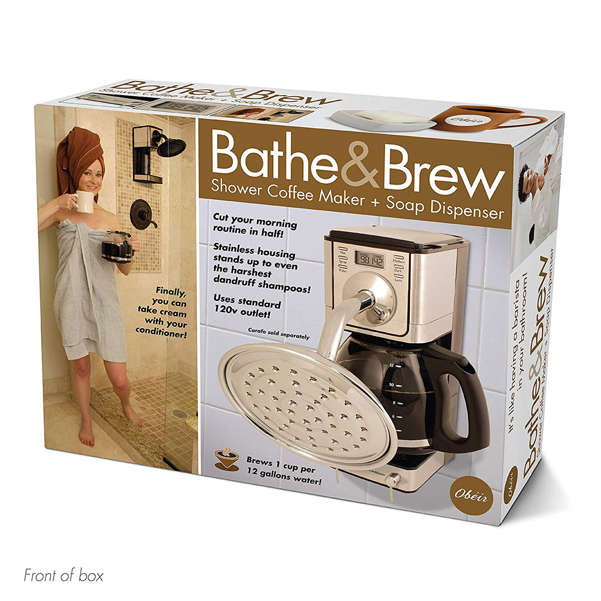 """Funny Gifts for Brother: Prank Pack """"Bathe & Brew"""" - Wrap Your Real Gift in a Prank Funny Gag Joke Gift Box"""
