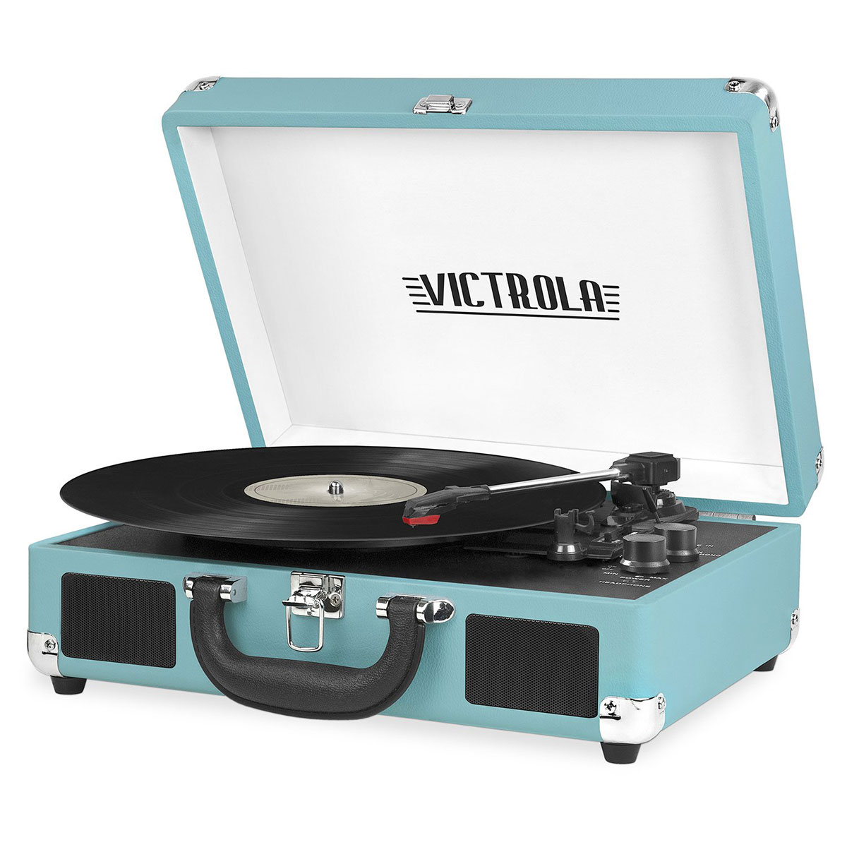 Gifts for Brother: Victrola Vintage 3-Speed Bluetooth Suitcase Turntable with Speakers
